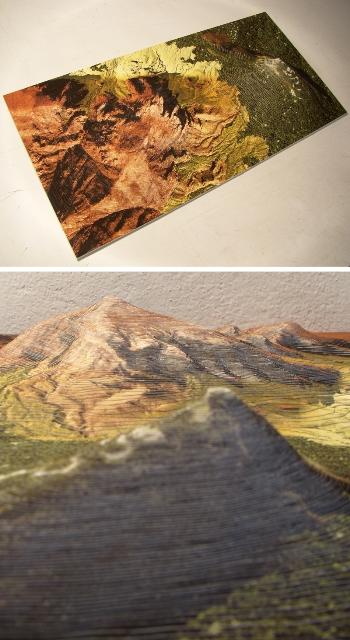 Topographic Photo Sculptures