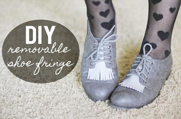 Removable Fringe Shoes