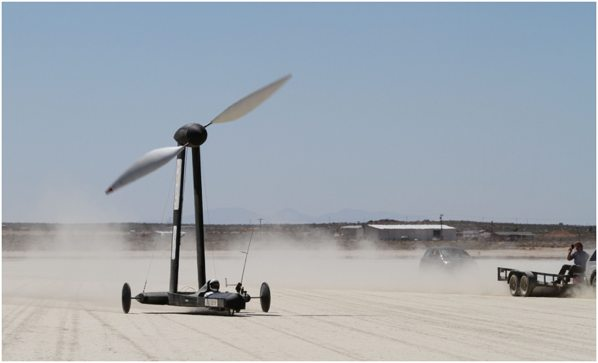 New Speed Record for Wind-Powered Kart