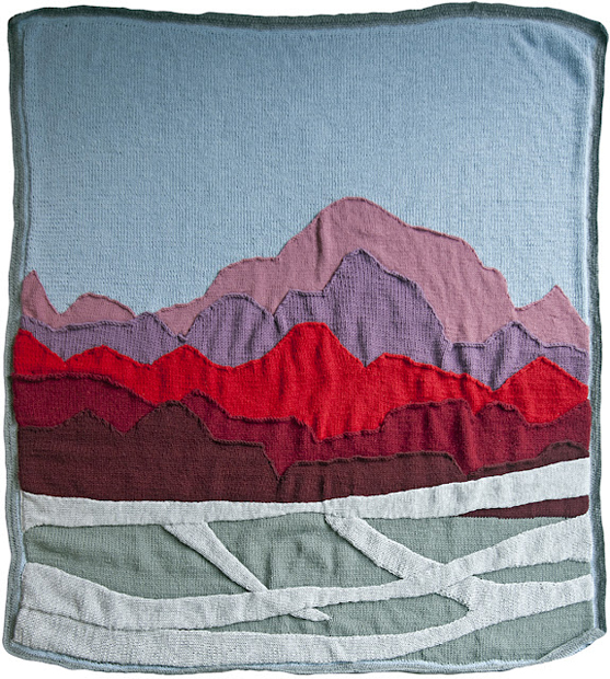 Hand-Knitted Landscape