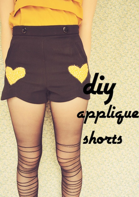 How-To: Add Heart Appliques to Shorts