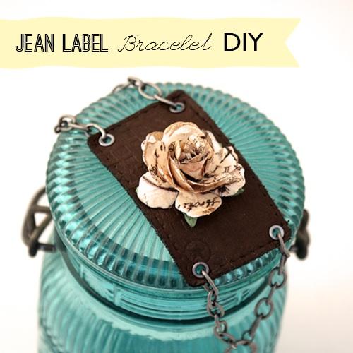 How-To: Jeans Label Bracelet