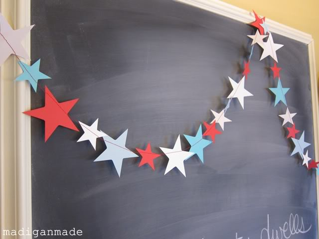 Simple Fourth of July Garland