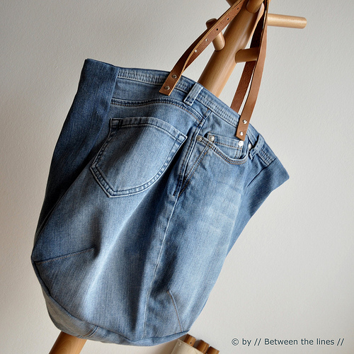Recycled Blue Jeans Summer Bag