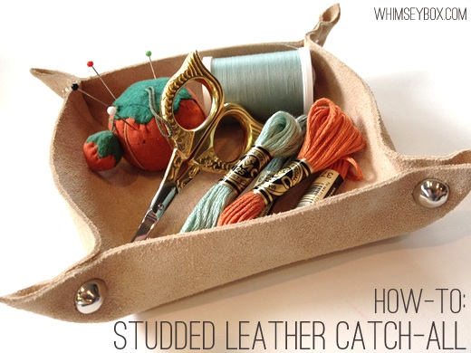 How-To: Studded Leather Catch-All