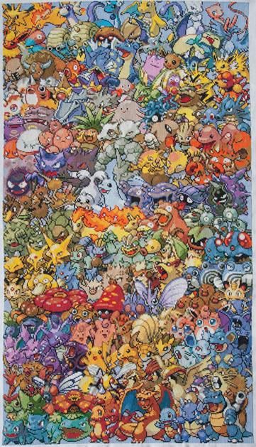 Epic Pokemon Cross-Stitch