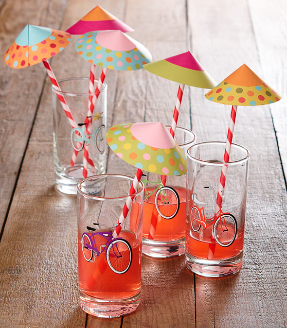 How-To: Paper Drink Parasols