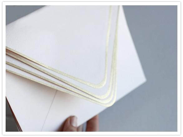 How-To: Gold Edge Envelopes
