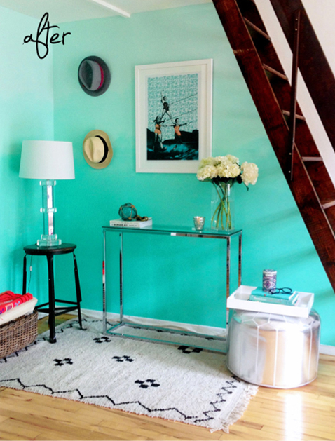 Mint Ombre Wall