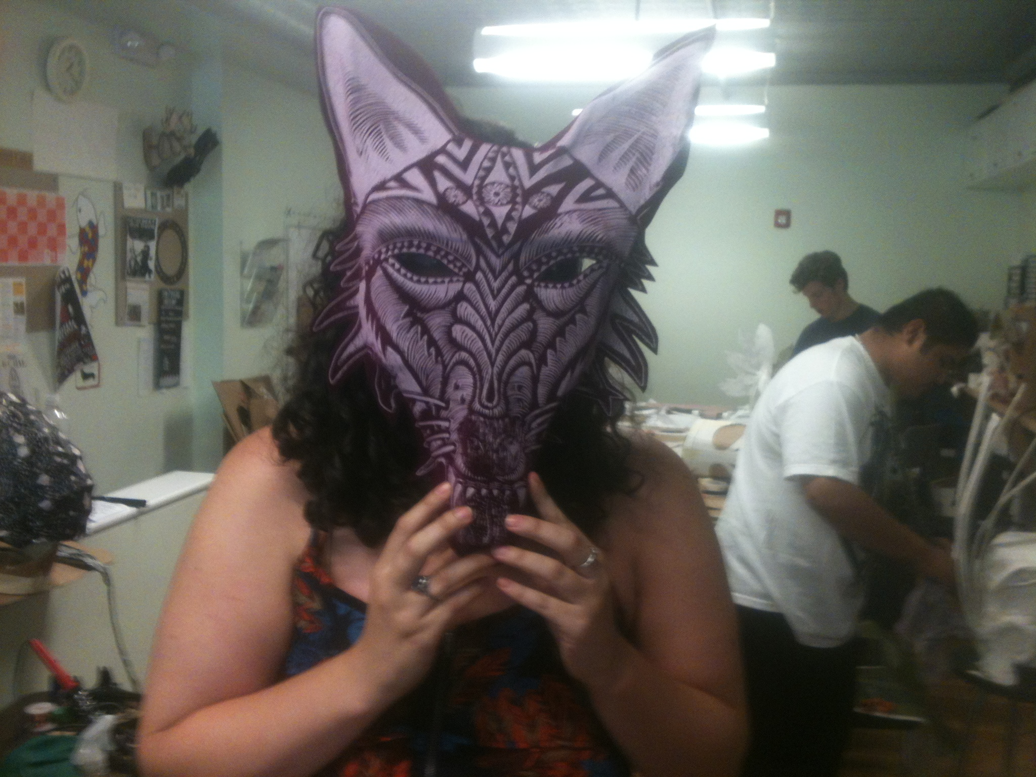 Mask Making for the Viking Procession in Providence