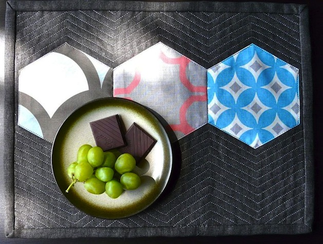 How-To: Modern Quilted Hexagon Placemats