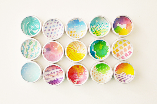 Watercolor Magnetic Shadow Boxes