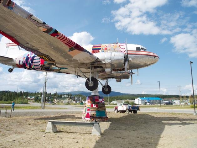 Yarn Bombed DC-3 Airplane from Yarn Bomb Yukon