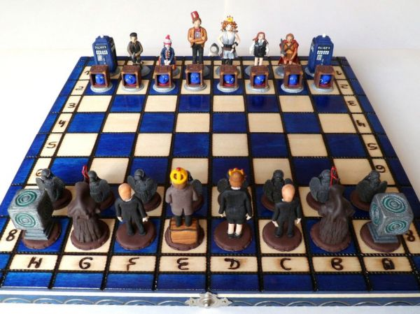 Homemade Doctor Who Chess Set