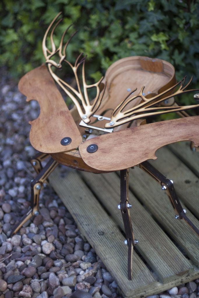 Steampunk Beetle Built from a Broken Violin