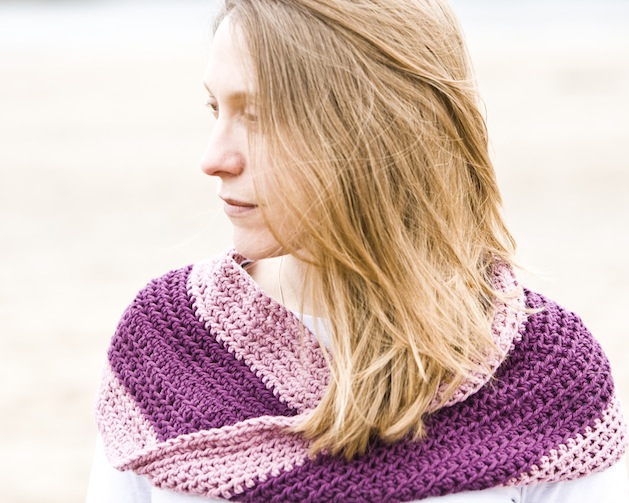 Flashback: Crocheted Mobius Cowl