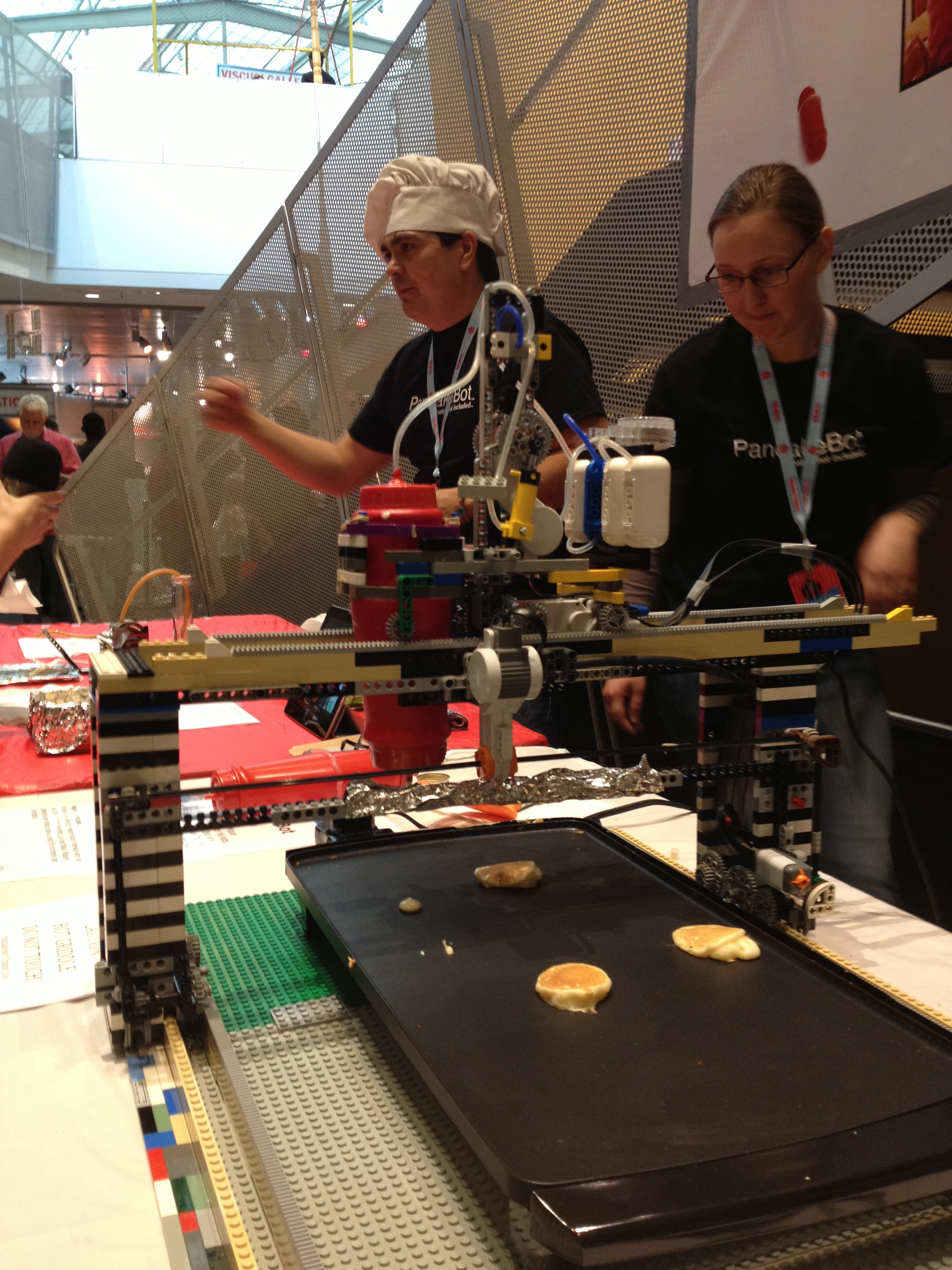 See the Lego Pancake Bot at Maker Faire
