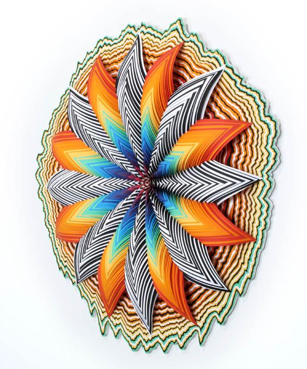 Jen Stark's Paper Sculptures