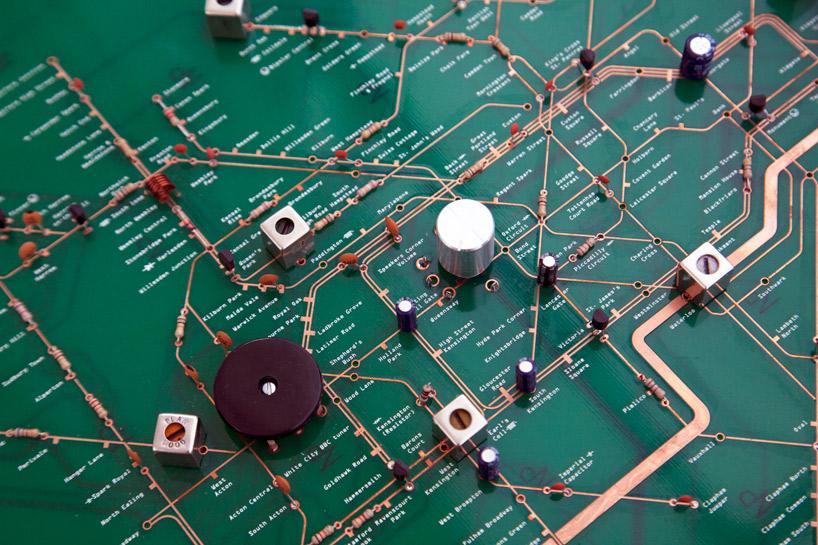 PCB Radio with London Underground Map-Configuration