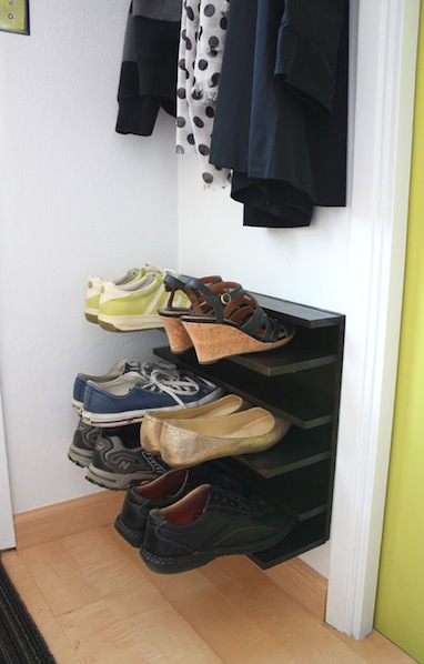 How-To: Small Space Shoe Rack
