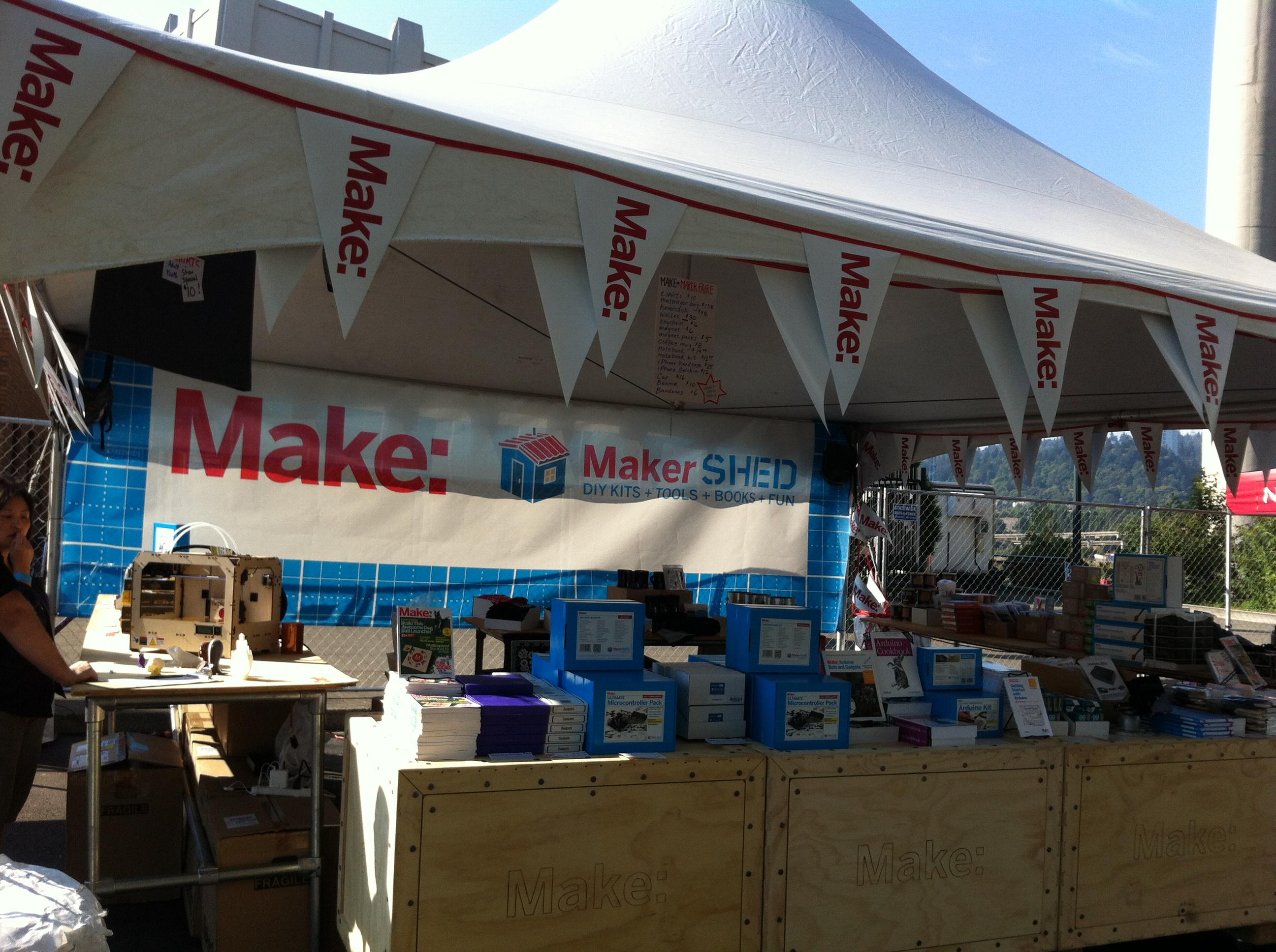 Maker Shed + MakerBot Replicators at Portland Mini Maker Faire