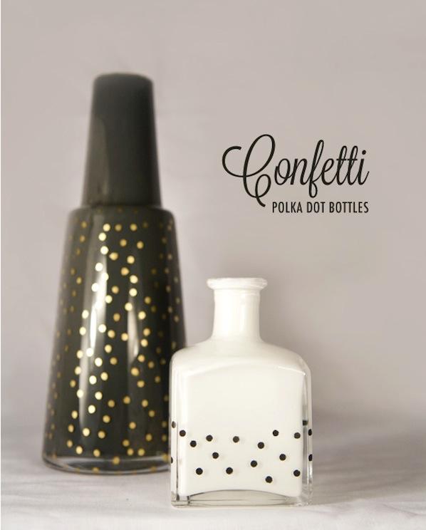 How-To: Polka Dot Bottles