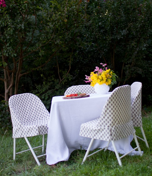 How-To: Folding Chair Slipcover