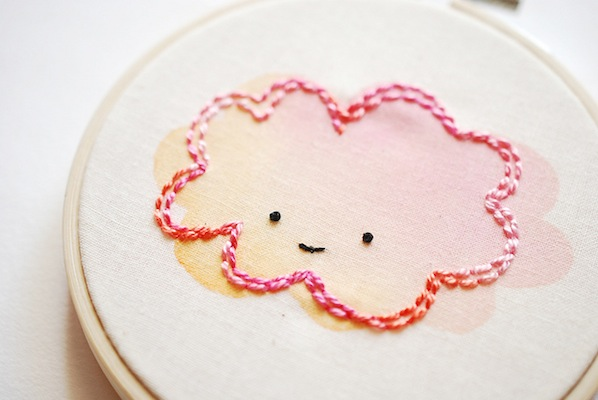 How-To: Tinting Embroidery with Watercolor Paints