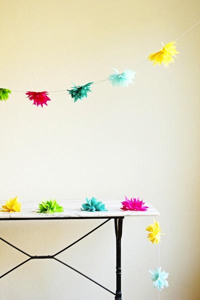 How-To: Tissue Paper Flower Garland