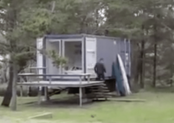Tiny Yellow House- Shipping Container House/Surf Shack