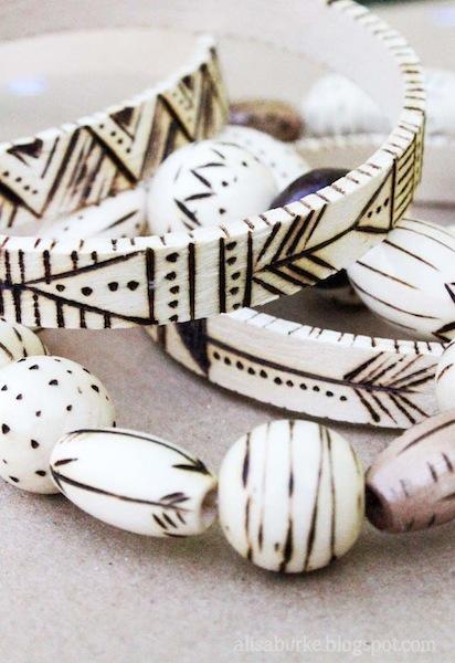 How-To: Burned Wood Bangle Bracelets