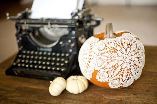 How-To: Doily Pumpkins
