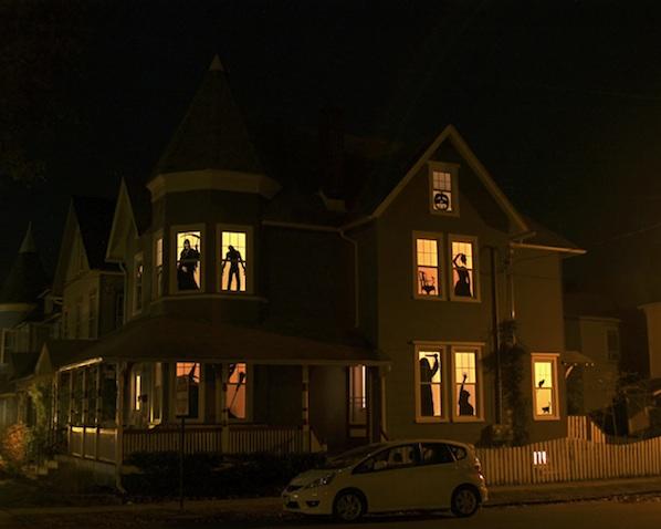Flashback: Haunted House Silhouettes