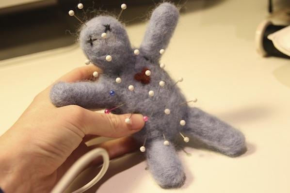 Flashback: Needle Felt A Voodoo Doll Pincushion
