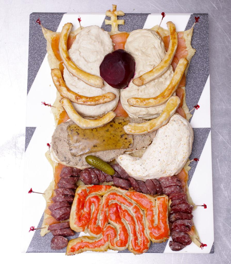 Human Torso Snack Plate