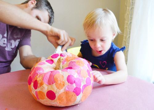 Tissue Paper Pumpkin How-To