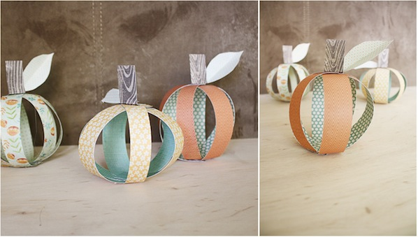 How-To: Patterned Paper Pumpkins
