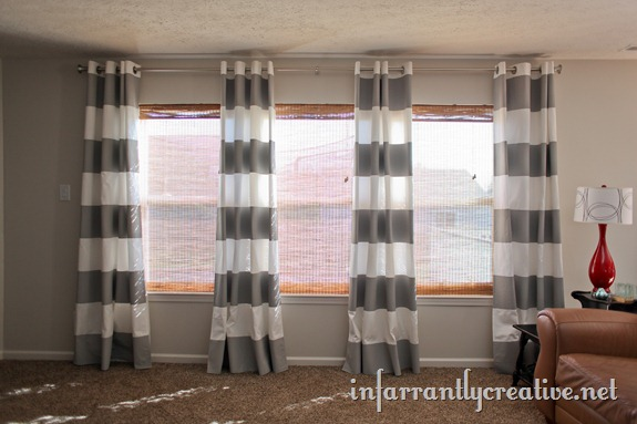 How-To: Striped Curtains