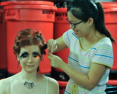 Diana Eng, working her magic on Jeri