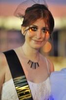 The lovely Ms. Ellsworth sporting her Maker Hero sash