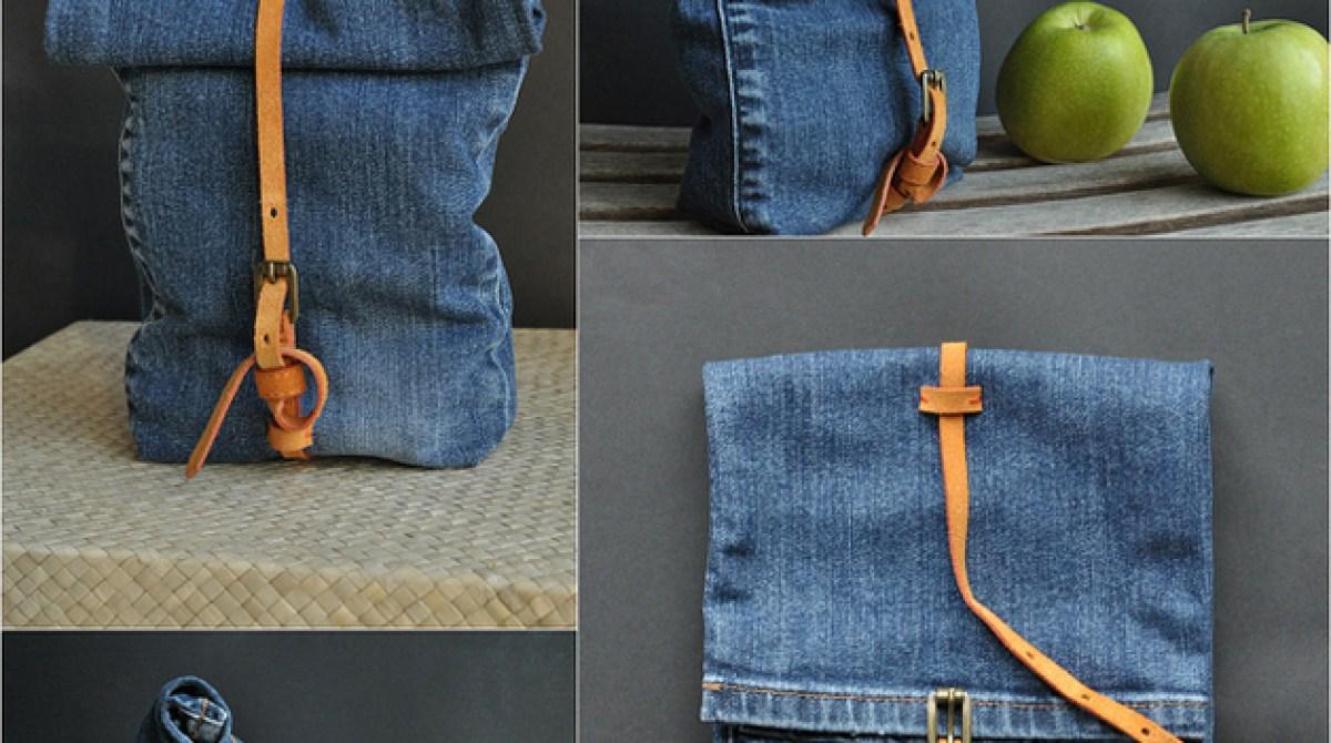 how to make a denim bag