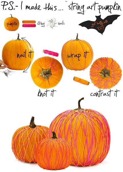 How-To: String Art Pumpkin