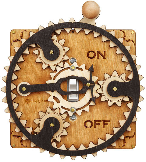 Planetary Gear Light Switch Plate