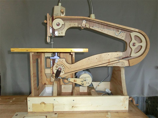 Homemade Wooden Scroll Saw is both Beautiful and Functional
