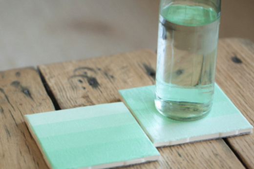 Mint Ombre Coasters