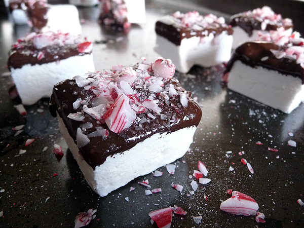 Homemade Chocolate-Dipped Marshmallows