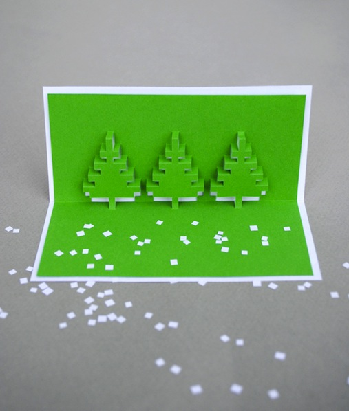 How-To: Christmas Pixel Popup Cards