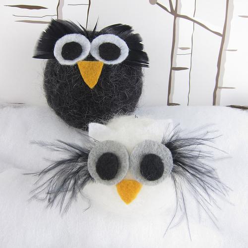 How-To: Felt Owl Ornaments