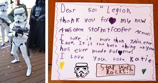 Little Girl Gifted Realistic Stormtrooper Costume for Halloween