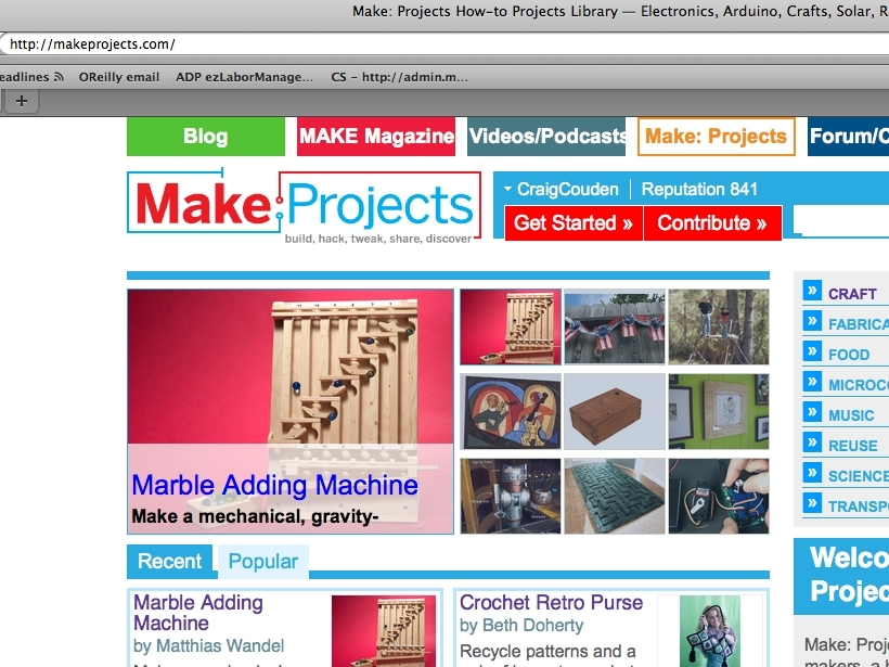 Enter a Project on Make: Projects